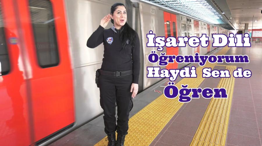 Metro Güvenliği Şoförü İşaret Dili Öğreniyor